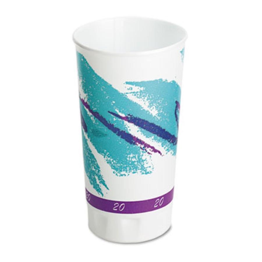 FOAM CUPS FOAM CUPS - Symphony Design Trophy XL Hot Cups, 20 oz, BeigeHot/cold design foam cups.TROP