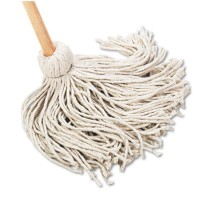 "DECK MOP DECK MOP - Deck Mop, 54"" Wooden Handle, 20-oz. Cotton Fiber HeadUNISAN Handle/Deck MopsC-20"