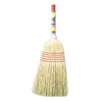 "CORN BROOM HANDLE CORN BROOM HANDLE - Maid Broom, Mixed Fiber Bristles, 42"" Wood Handle, NaturalUNIS"