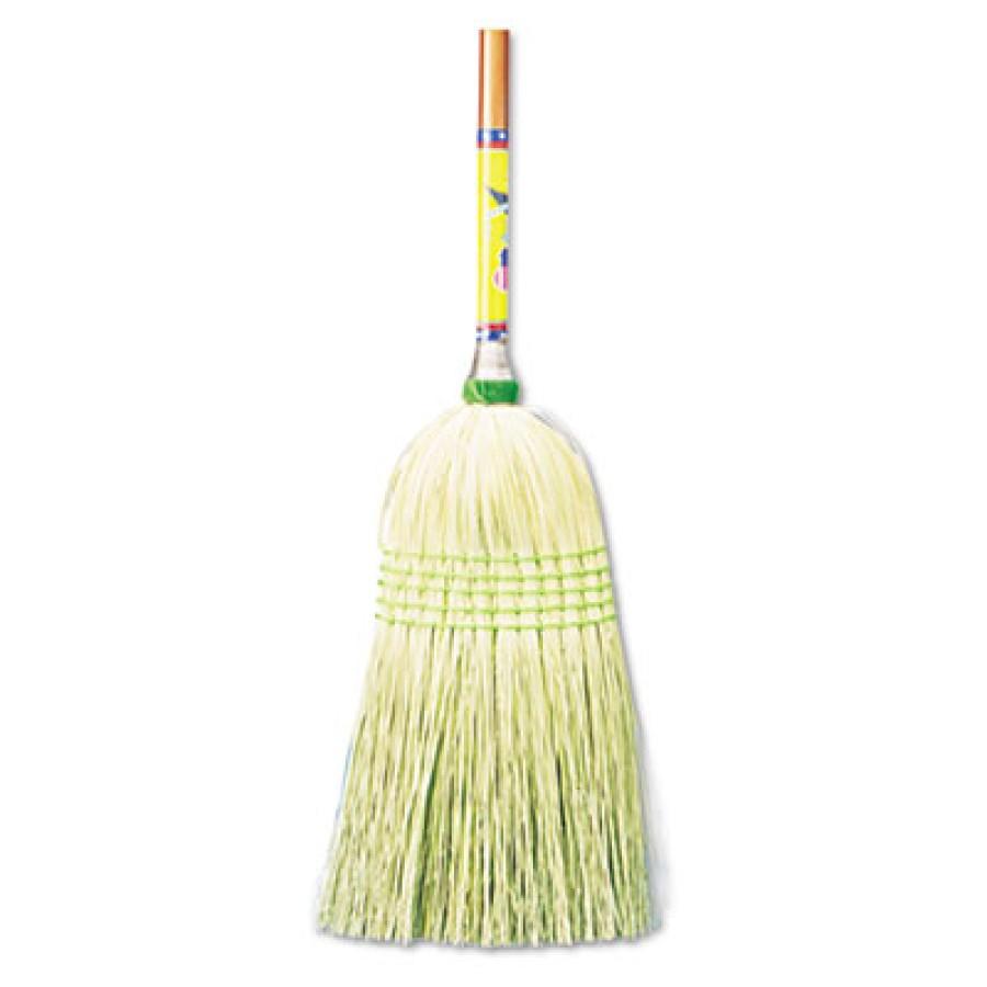 "CORN BROOM HANDLE CORN BROOM HANDLE - Parlor Broom, Corn Fiber Bristles, 42"" Wood Handle, NaturalUNI"