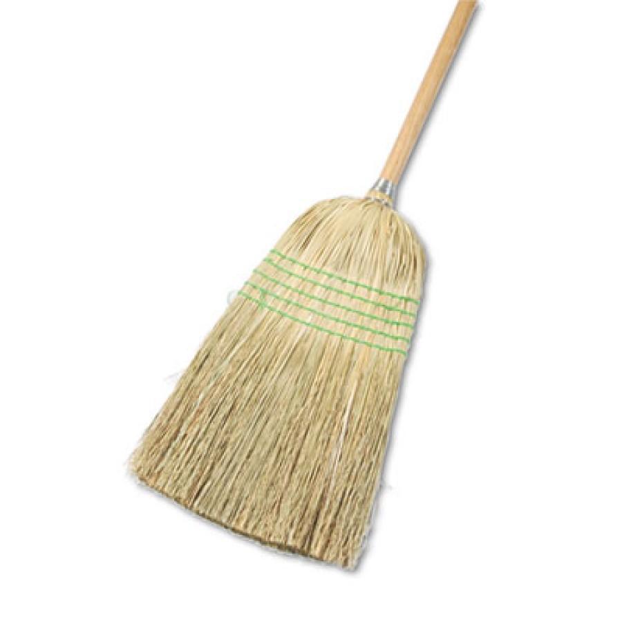 "CORN BROOM HANDLE CORN BROOM HANDLE - Parlor Broom, Yucca/Corn Fiber Bristles, 42"" Wood Handle, Natu"