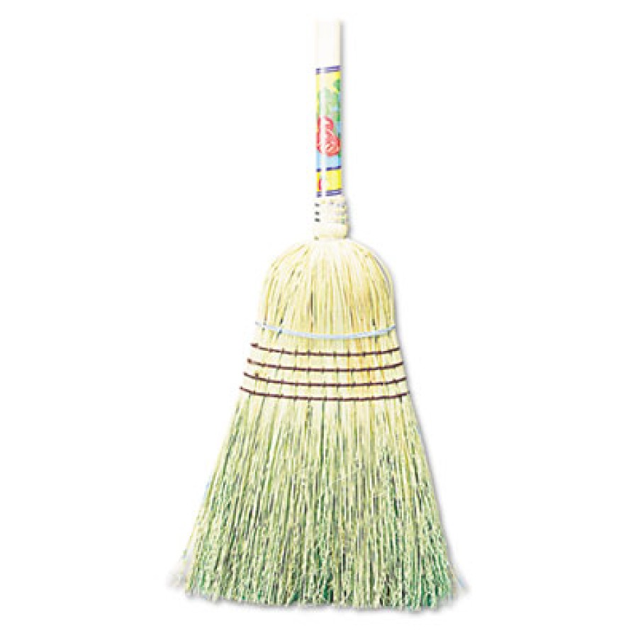 "CORN BROOM HANDLE CORN BROOM HANDLE - Warehouse Broom, Corn Fiber Bristles, 42"" Wood Handle, Natural"