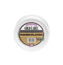 PAPER PLATE | PAPER PLATE | 12/100'S - C-GOLD LABEL PPR PLT  COAT 6IN