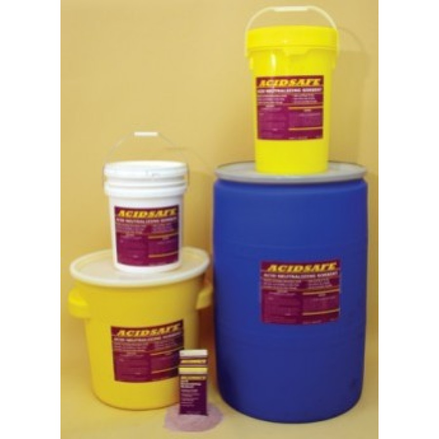 Acid Neutralizing and Indicating Absorbent - ACIDSAFE (5 Gallon Flip Top Pail)