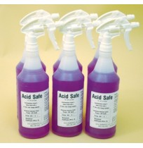 Battery Wash Acid Neutralizing, Indicating and Cleaning Spray - ACIDSAFE (32 Ounce Spray Bottle / 6 per case)