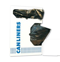 GARBAGE BAGS GARBAGE BAGS - Light-Grade Can Liners, 17 x 17, .35 Mil, 4-Gallon, Black, 50/RollBoardw