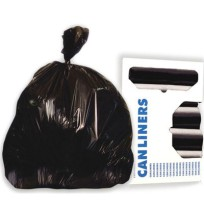 GARBAGE BAGS GARBAGE BAGS - High-Density Can Liners, 40 x 46, 45-Gal, 17 Micron Equivalent, Black, 2