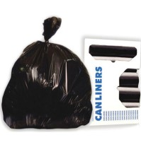 GARBAGE BAGS GARBAGE BAGS - High-Density Can Liners, 43 x 47, 56-Gal, 22 Micron Equivalent, Black, 2