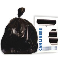 GARBAGE BAGS GARBAGE BAGS - Super-Heavy Grade Can Liners, 33 x 39, 1.5 Mil, 33-Gallon, Black, 10/Rol