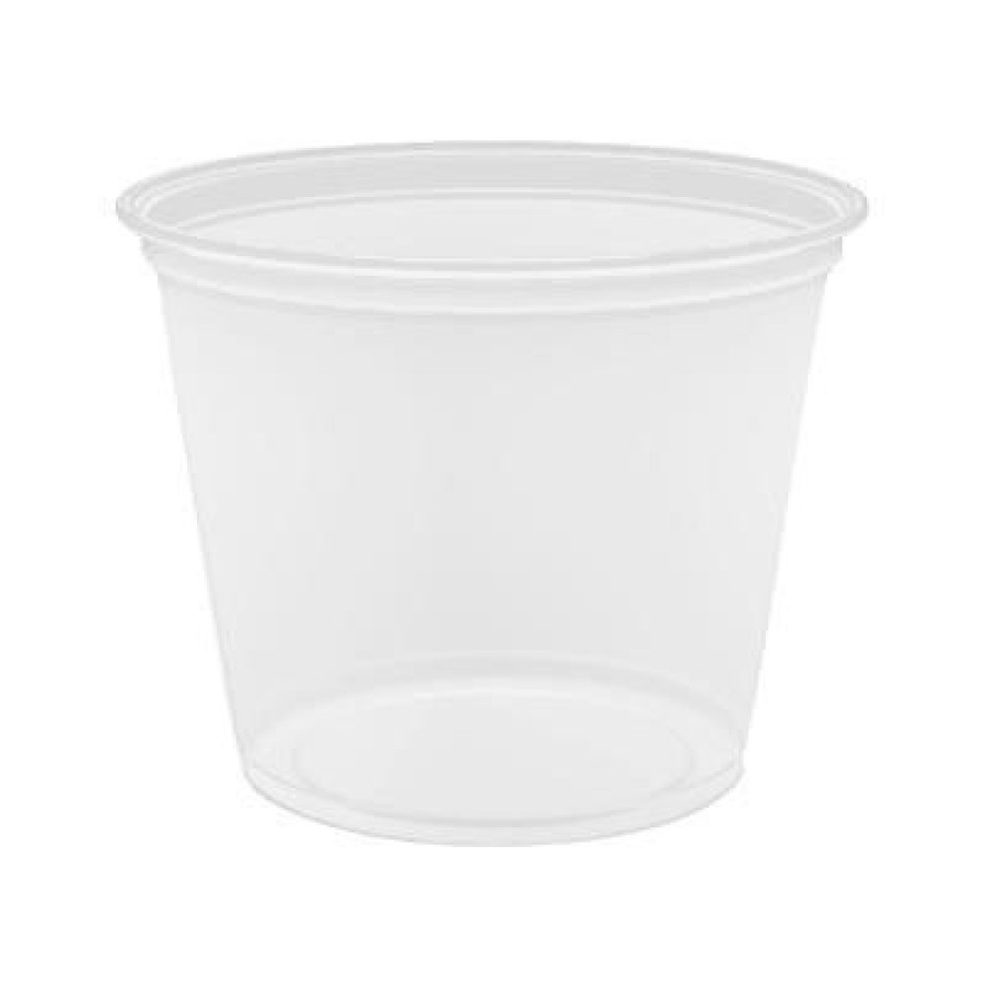 SOUFFLE CUPS SOUFFLE CUPS - Conex Complement Portion Cups, 5 1/2 oz., Translucent, 125/BagDart  Cone