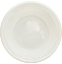 PLASTIC BOWLS PLASTIC BOWLS - Plastic Bowls, 5-6 Ounces, White, Round, 125/PackDart  Famous Service