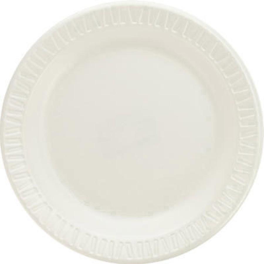 FOAM PLATES FOAM PLATES - Foam Plastic Plates, 6 Inches, White, Round, 125/PackDart  Quiet Classic