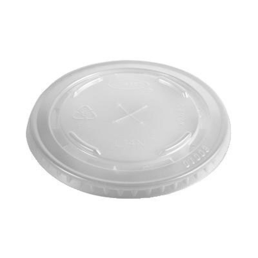 SLOTTED CUP LIDS SLOTTED CUP LIDS - Conex C-Cup Lids, Fits 12-14oz Cups, TranslucentDart  Conex  Pla