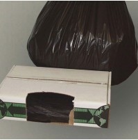 GARBAGE BAG GARBAGE BAG - Linear Low-Density Ecosac, 38 x 60, 55-Gallon, 2.0 Mil, Black, 50/CaseEsse