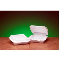 Hinged Container Hinged Container - Genpak  Foam Hinged Carryout ContainersCNTNR FOAM HING,1C,200/Cs with 100/bag
