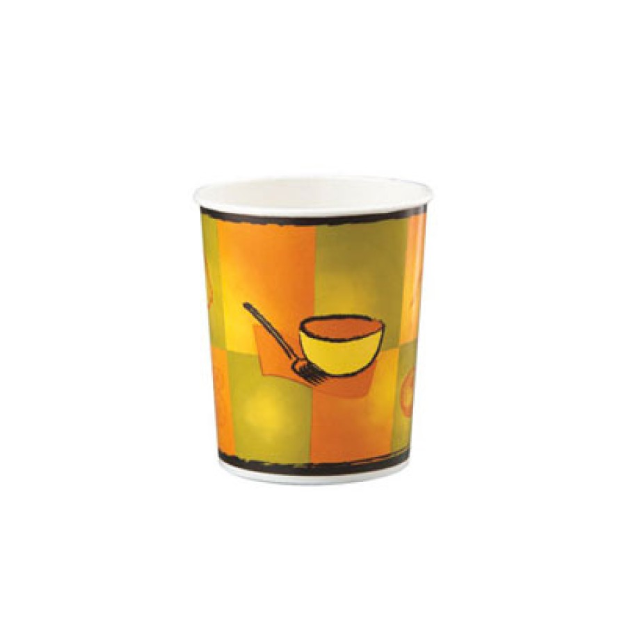 PAPER CUPS PAPER CUPS - Streetside Tall Paper Food Container, Streetside Design, 16 oz, 50/BagChinet