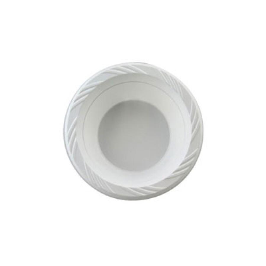 PLASTIC BOWLS PLASTIC BOWLS - Plastic Bowls, 12 Ounces, White, Round, Lightweight, 125/PackChinet  L