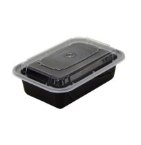Carry Out Container Carry Out Container - Pactiv VERSAtainer  ContainersCONTNR,RECT,24OZ,BLK/CLRVERS