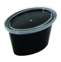 PLASTIC CUPS PLASTIC CUPS - Ellipso Portion Cups, 1-Comp, Black/Clear, 2ozPactiv Ellipso  Portion Cu