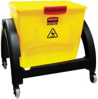 MOP BUCKET MOP BUCKET - HYGEN Clean Water System Filter Bucket, Yellow/RedRubbermaid  Commercial HYG