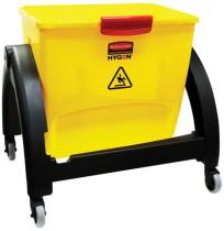 MOP BUCKET MOP BUCKET - HYGEN Clean Water System Filter Bucket, Yellow/RedRubbermaid  Commercial HYG