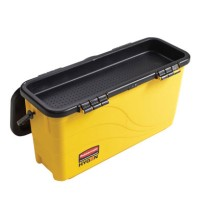 MICROFIBER MOP BUCKET MICROFIBER MOP BUCKET - HYGEN Top Down Charging Bucket, Yellow/BlackRubbermaid