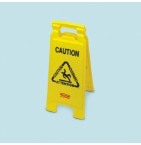 "Wet Floor Sign Wet Floor Sign - Rubbermaid  Commercial Multilingual ""Closed"" Folding Floor SignPLS C"