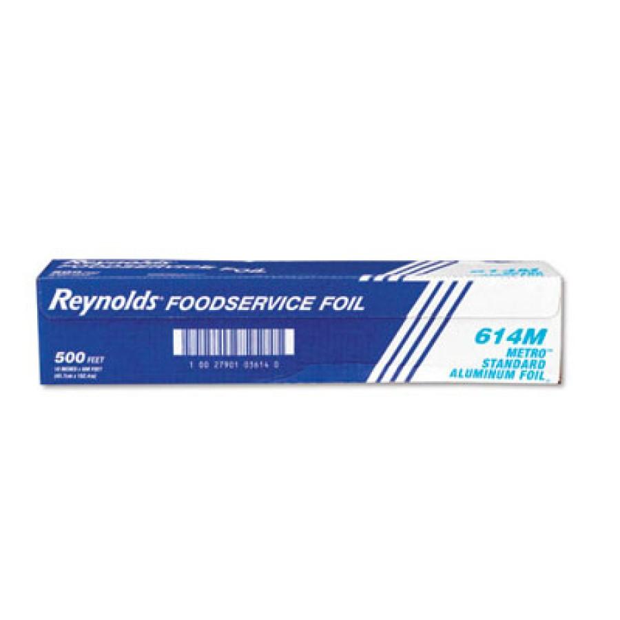 Aluminum Foil Aluminum Foil - Reynolds Wrap  Metro  Aluminum Foil RollsLGT FOIL,18X1000',HVY,SLVMetr