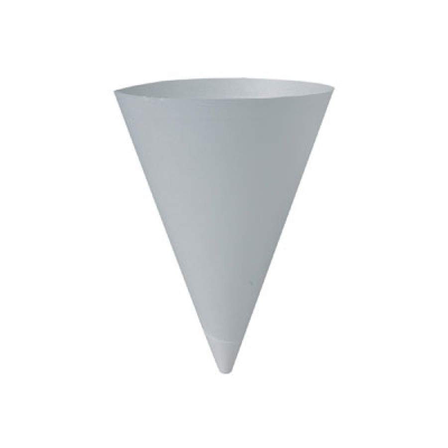 PAPER CUPS PAPER CUPS - Bare Treated Paper Cone Water Cups, 7 oz., White, 250/BagSOLO  Cup Company B