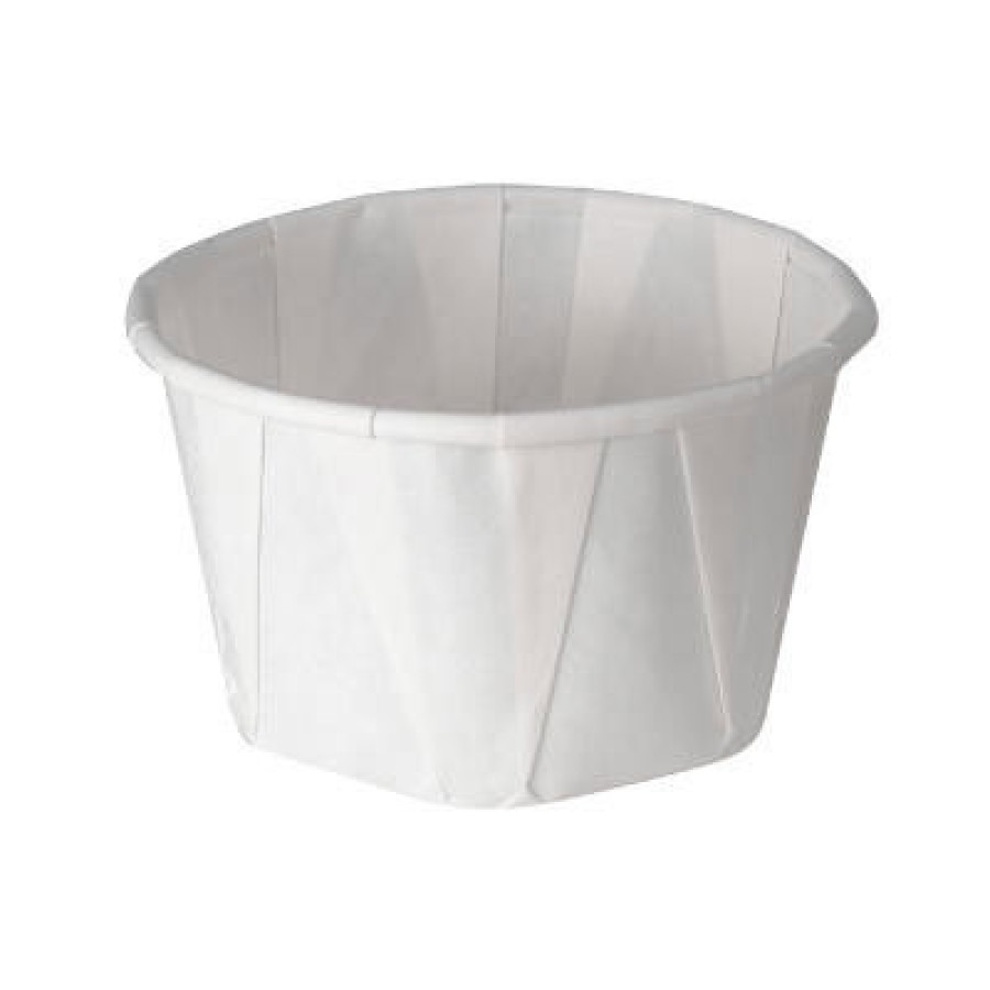 SOUFFLE CUPS SOUFFLE CUPS - Treated Paper Portion Cups, 3 1/4 oz., White, 250/BagSOLO  Cup Company P