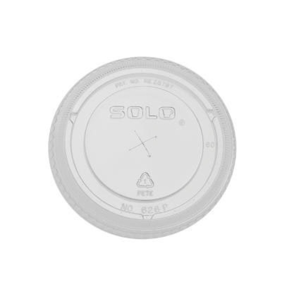 SLOTTED CUP LIDS SLOTTED CUP LIDS - Straw-Slot Cold Cup Lid, 16-24oz Cups, ClearStraw-slot plastic c