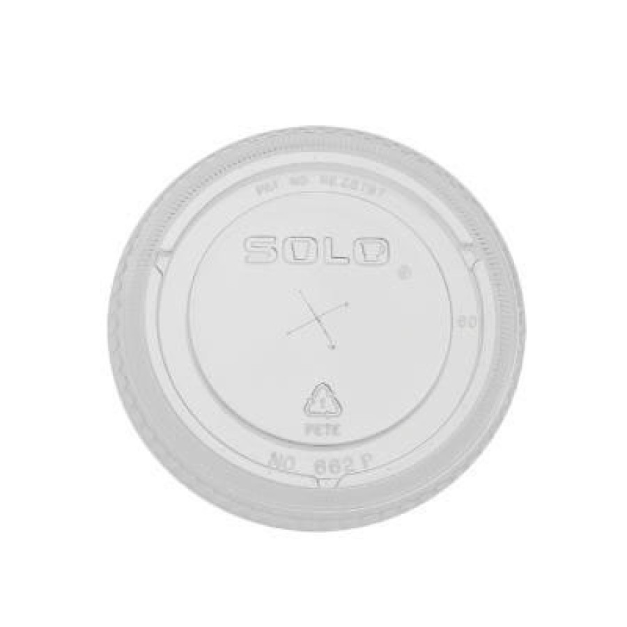 SLOTTED CUP LIDS SLOTTED CUP LIDS - Straw-Slot Cold Cup Lids, 12-14, 20oz Cups, ClearStraw-slot plas