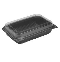 Dinner Box Dinner Box - Large, family-size hinged-lid containers.BOX,DINNER,64OZ,BK/CRDinner Box, 1-