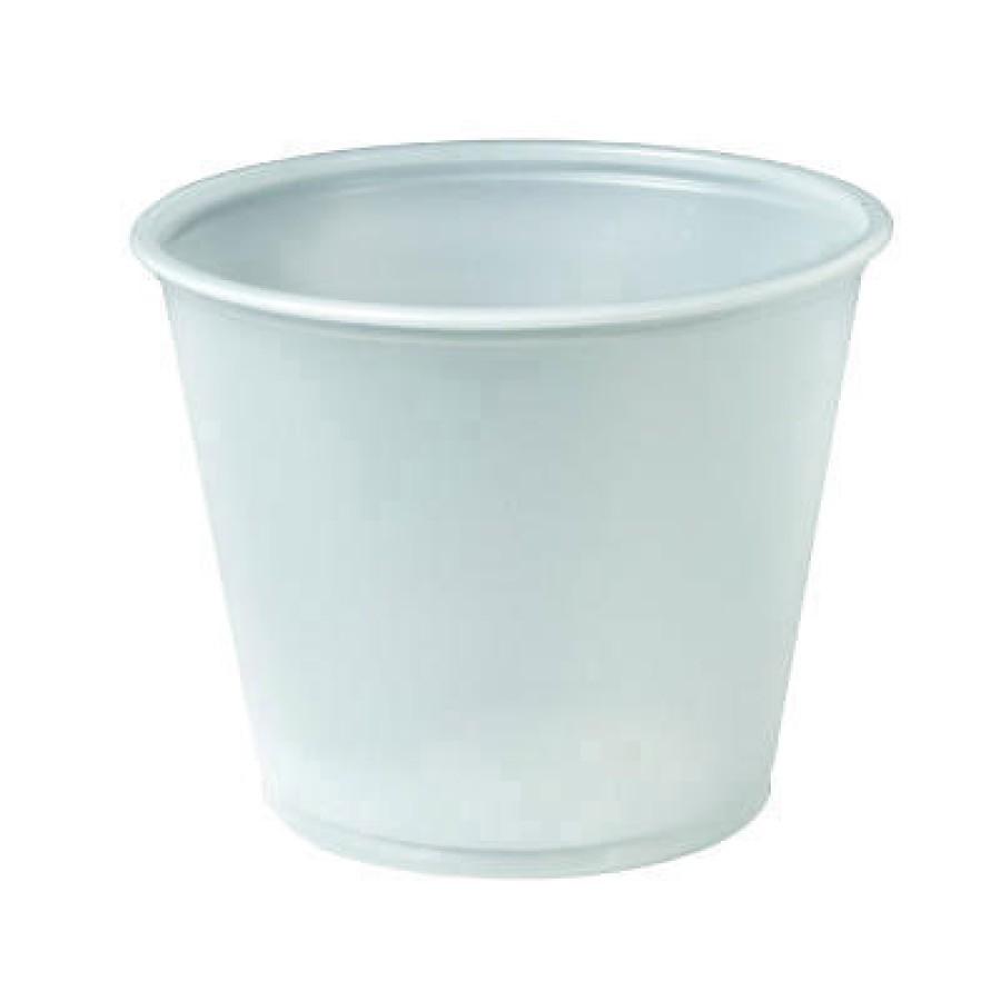 SOUFFLE CUPS SOUFFLE CUPS - Plastic Souffl  Portion Cups, 5 1/2 oz., Translucent, 250/BagSOLO  Cup C