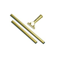 "SQUEEGEE | SQUEEGEE | 10/CS - C-GOLDEN CLIP 12"" BRASS CHANNEL W/RUBBER"