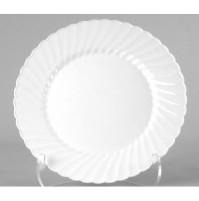 PLASTIC PLATES PLASTIC PLATES - Classicware Plastic Plates, 9 Inches, White, Round, 10/PackWNA Class