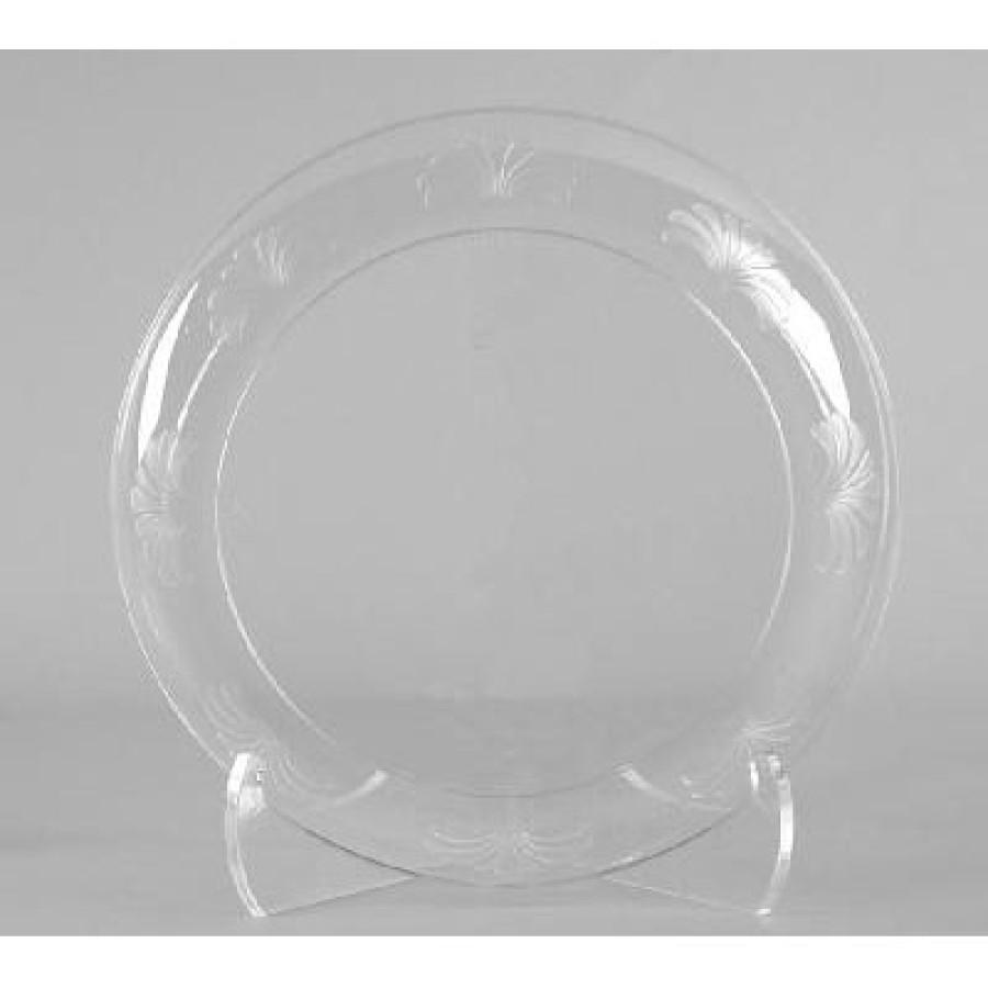 PLASTIC PLATES PLASTIC PLATES - Designerware Plastic Plates, 10 1/4 Inches, Clear, Round, 8/PackWNA