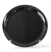 PLASTIC PLATES PLASTIC PLATES - Plastic Plates, 10 1/4 Inches, Designerware Design, Black, Round, 10