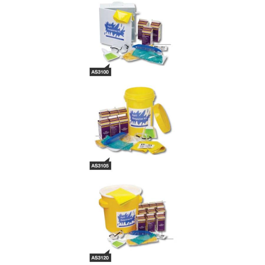 BATTERY ACID SPILL KIT BATTERY ACID SPILL KIT - AcidSafe Spill KitsBATTERY ACID SPILL CABINET: Conta