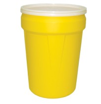 30 Gallon Open Top Drum, Yellow