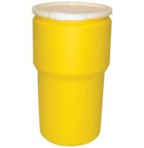 14 Gallon Open Top Drum, Yellow