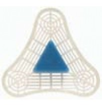 UniTab Plus Triangular Urinal Block & Screen, Blue Spice   Block & Screen - (12/Case)