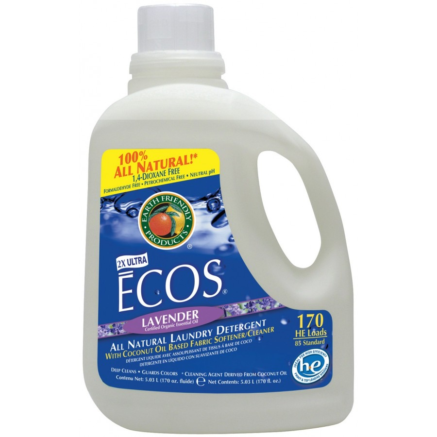Ecos Liquid Laundry Detergent, Lavender | 170 oz retail - (2/Case)