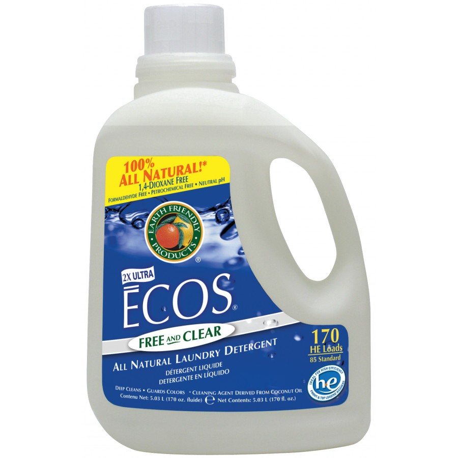 Ecos Liquid Laundry Detergent, Free & Clear | 170 oz retail - (2/Case)