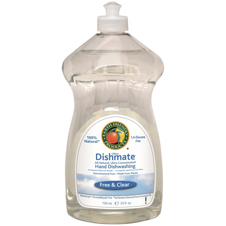 Dishmate Manual Dishwashing Liquid, Free & Clear | 25 oz retail - (6/Case)