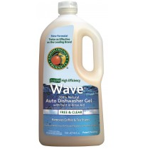 Wave Gel Auto-Dishwasher Detergent, Free & Clear | 40 oz retail - (8/Case)
