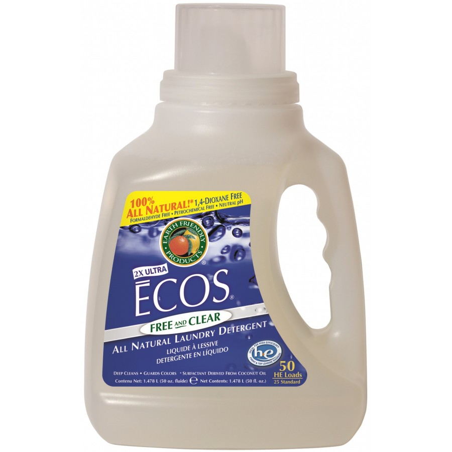 Ecos Liquid Laundry Detergent, Free & Clear | 50 oz retail - (8/Case)