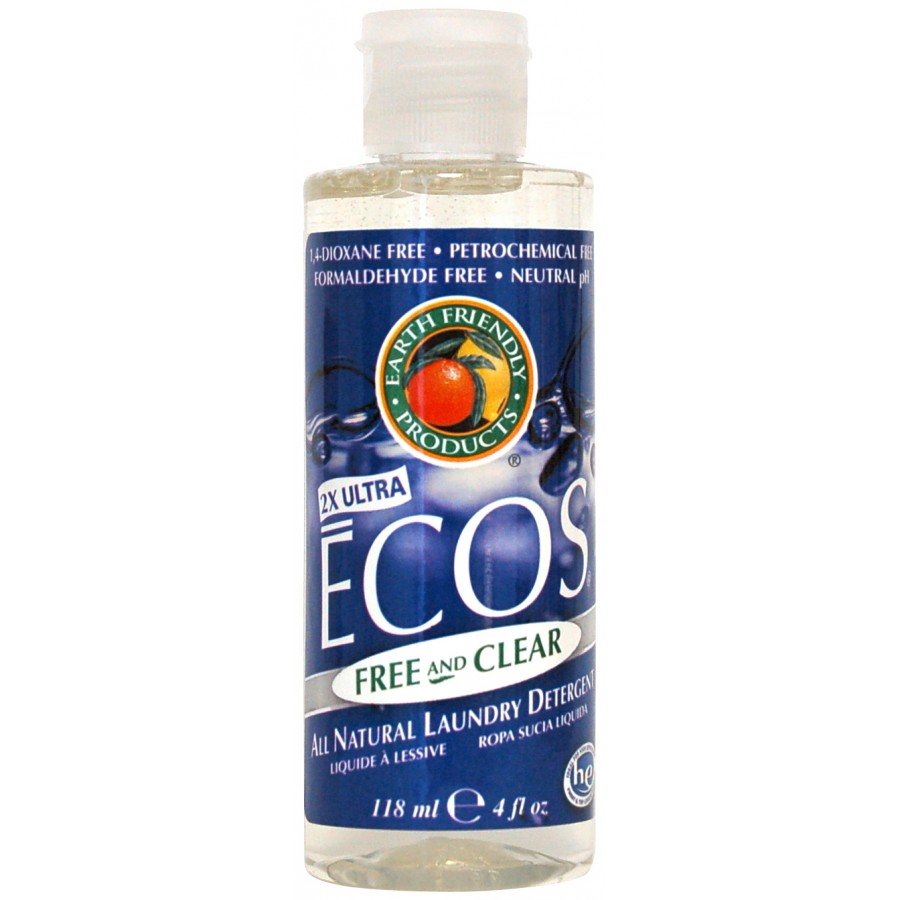 Ecos Liquid Laundry Detergent, Free & Clear | 4 oz - (50/Case)