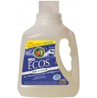 Ecos Liquid Laundry Detergent, Free & Clear | 100 oz retail - (4/Case)