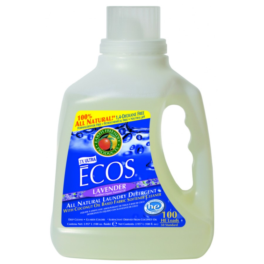 Ecos Liquid Laundry Detergent, Lavender | 100 oz retail - (4/Case)